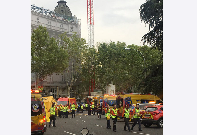 One dead, 11 injured after scaffolding collapse at luxury hotel in Spain