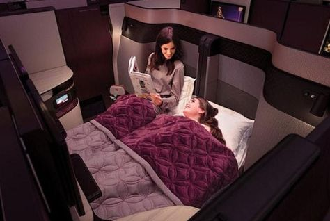Qatar Airways' new business class has a double bed