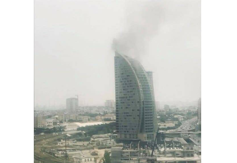 Under construction former Trump-branded hotel catches fire in Azerbaijan