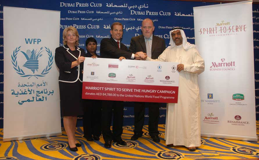 Marriott Dubai donates to UN