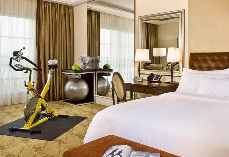 Hoteliers offer in-room fitness and spa facilities