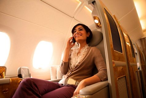 Emirates launches mobile phone service on A380s