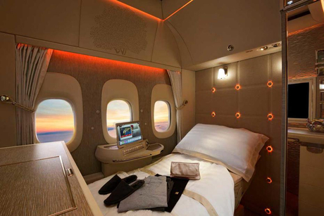 Emirates unveils new Boeing 777 first class cabins at Dubai Airshow
