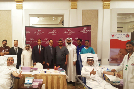 Crowne Plaza Jeddah organises blood donation drive