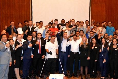 World record holder Haddad inspires Marriott Al Jaddaf Dubai associates
