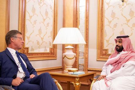 Saudi Crown Prince MBS meets Accor CEO Sebastien Bazin in Riyadh