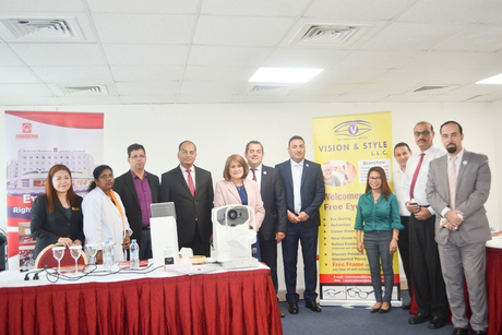 Al Bustan Centre & Residence holds free eye check-ups for employees