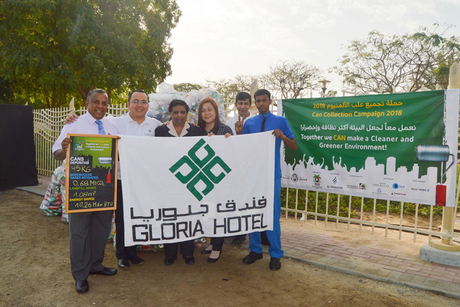 Gloria Hotels contributes 50 Kgs of cans for recycling this year
