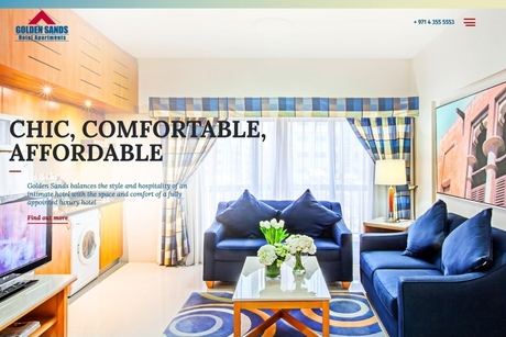 Dubai's Golden Sands Hotel Apartments unveils revamped website