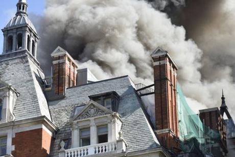 London's Mandarin Oriental Hotel catches fire