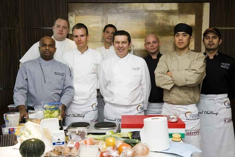 Chefs go head-to-head in Caterer cooking comp