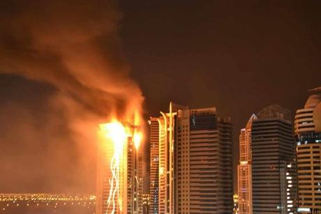 Blaze breaks out at Tamweel Towers in Dubai's JLT