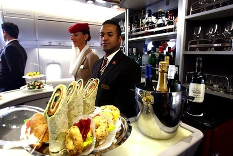Top 10 airlines for in-flight food revealed