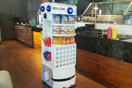 Robot used for serving drinks is launched in the Middle East hotel market
