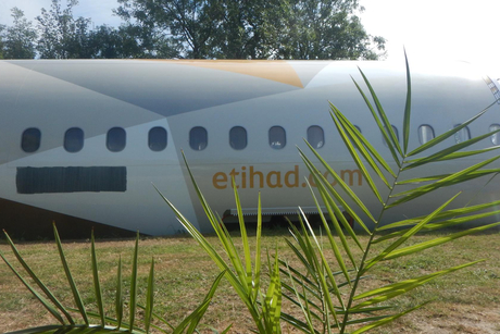 Etihad jet transformed into holiday rental in UK