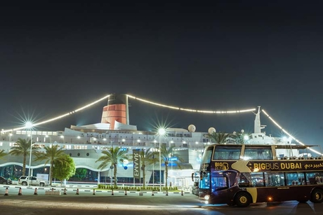 Big Bus Dubai partners with QE2 for Halloween