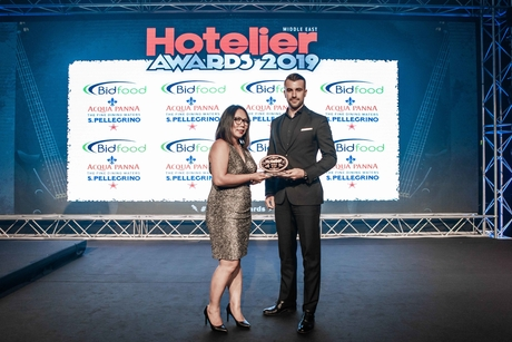 Grand Hyatt Dubai's early achiever is crowned at the Hotelier Awards