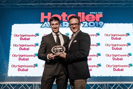 Daryn Berriman goes for gold at the 15th Hotelier Middle East Awards