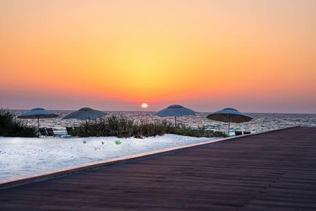 Boardwalk sunsets at Jumeirah at Saadiyat Island Resort