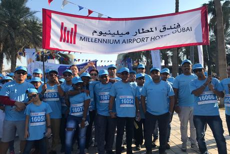 Millennium Airport Hotel Dubai takes part in Beat Diabetes Walk
