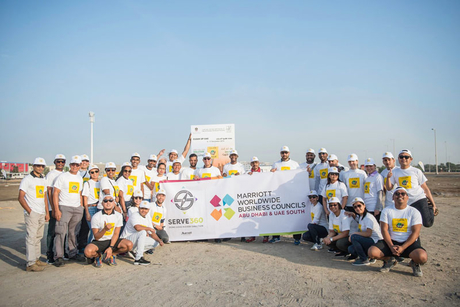 Marriott Hotel Al Forsan, Abu Dhabi takes part in clean up campaign