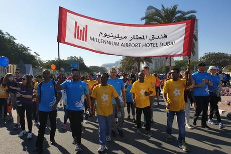 Millennium Airport Hotel Dubai staff take part in charity walk