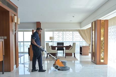 How to shine marble flooring with Sheraton Dubai Creek