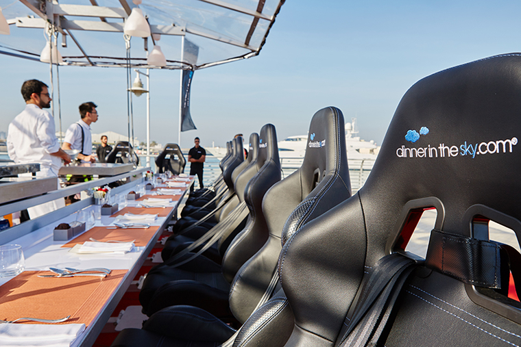 PHOTOS: Dinner in the sky preview
