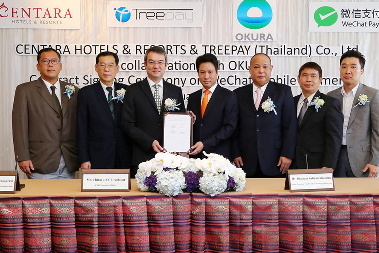 Centara signs with TreePay for mobile payment solution