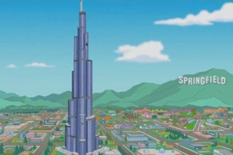 Dubai's Burj Khalifa stars in The Simpsons