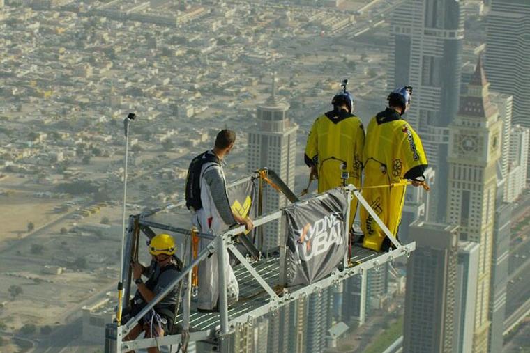 VIDEO: Record base jump from Burj Khalifa
