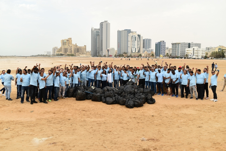 Wyndham Hotels, Ajman celebrates Earth Day with beach clean-up