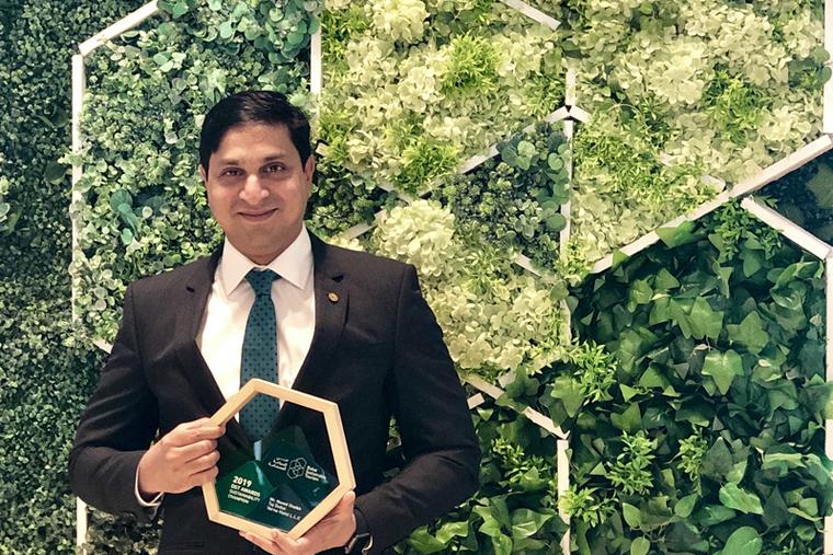 Taj Dubai's director of engineering walks away with sustainability award