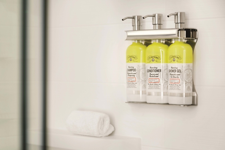 IHG reduces plastic usage replaces bathroom miniatures with bulk-size amenities