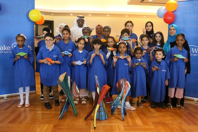 Fairmont Dubai hotel hosts art workshop in support of Make a Wish Foundation UAE