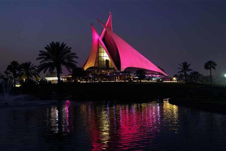 Park Hyatt Dubai reveals 'the pink lagoon' to raise breast cancer awareness
