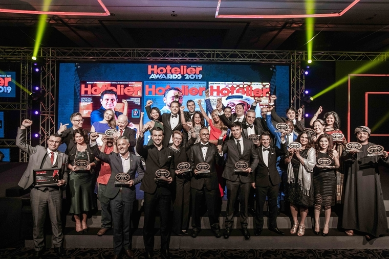 Winners at the Hotelier Middle East Awards 2019