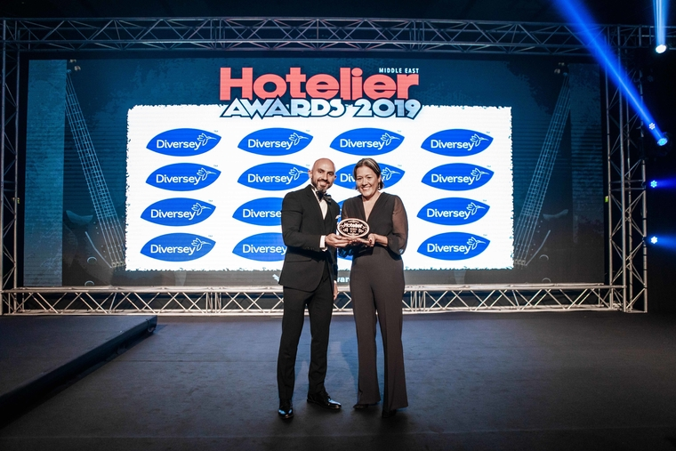 Katrin Herz manages to edge out the competition at the Hotelier Middle East Awards