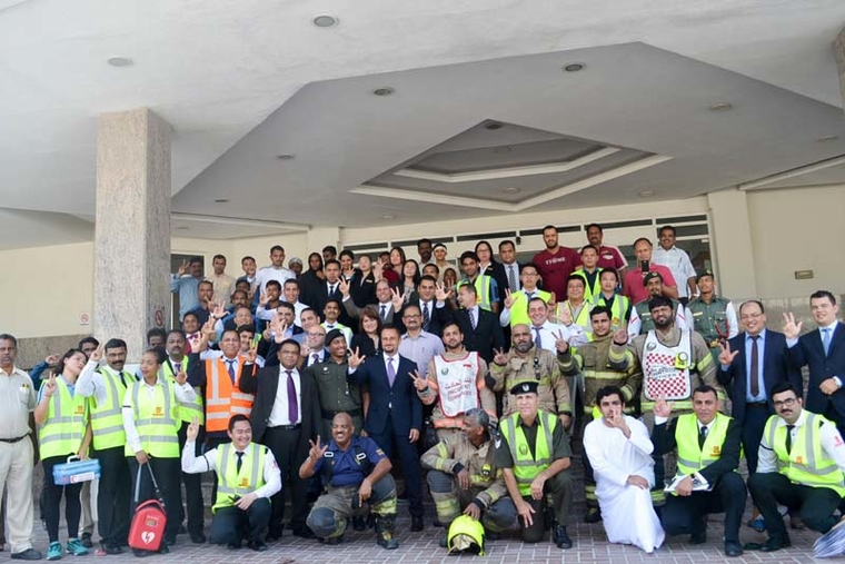 Al Bustan Centre & Residence conducts mock fire drill