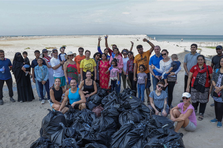 Fairmont Ajman collects 250kg of litter in community beach clean-up