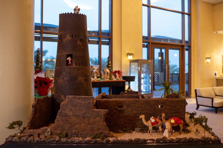 Hilton Ras Al Khaimah Resort & Spa recreates UAE landmark with chocolate
