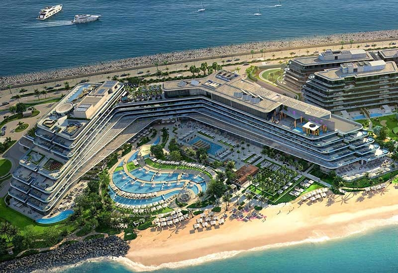 W Dubai The PalmProposed opening date: June 2018.Location: West Crescent, Palm Jumeirah.Interior designer: dwp.Architect: RMJM.Keys: 350.Total area of property: 92,903m2.F&B outlets: Six, including Massimo Botturas Torno Subito, and Akira Back.Leisure facilities: WET (Pool area), 400m of beach, DND Suites, AWAY Spa, FIT (Gym), Water Sports, W The Store, P.A.W. (Pets Are Welcome).MICE facilities: 1,215m2 Great Room plus seven studios and strategy rooms, pre-function area, and a 204m2 lawn.Unique selling points of the property: It offers the first W Escape in the Middle East, and the hotel hopes that its WET Deck will be famous for pool parties and Friday brunch. Two Michelin star chefs are anchoring its F&B venues: Torno Subito by Massimo Bottura and Akira Back  set to create a buzz. And all 350 rooms, including 59 suites, have sea views.
