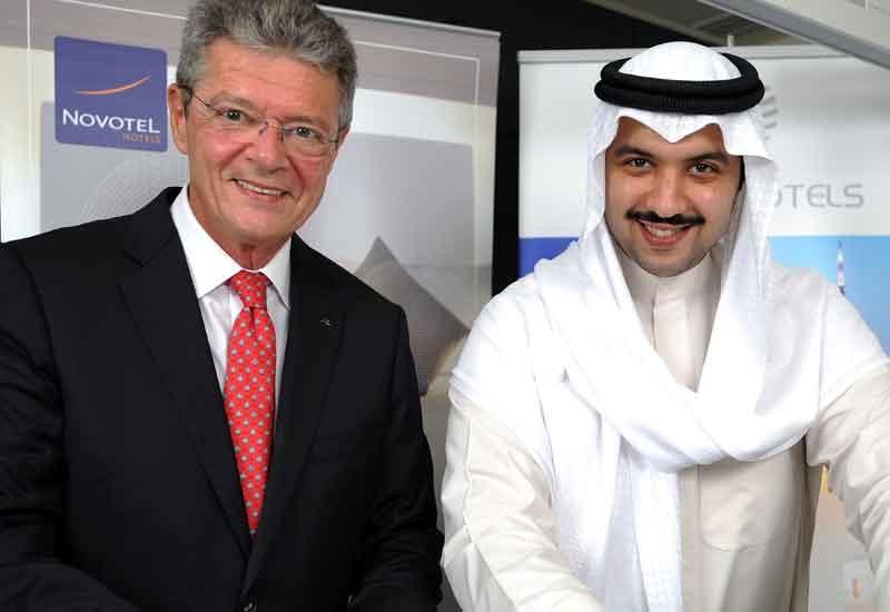 Accor Middle East managing director Christophe Landais with Action Hotels chairman His Excellency Sheikh Mubarak Abdulla Mubarak Al Sabah.