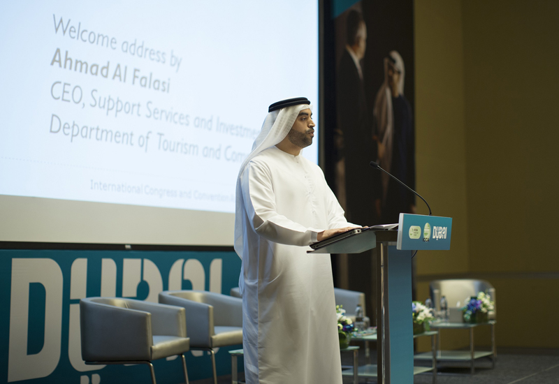 Ahmad Al Falasi speaks at ICCA Middle East International Meetings Forum.