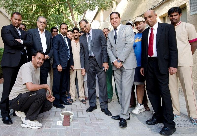Al Bustan Centre and Residence clean-up activity in Sonapur.
