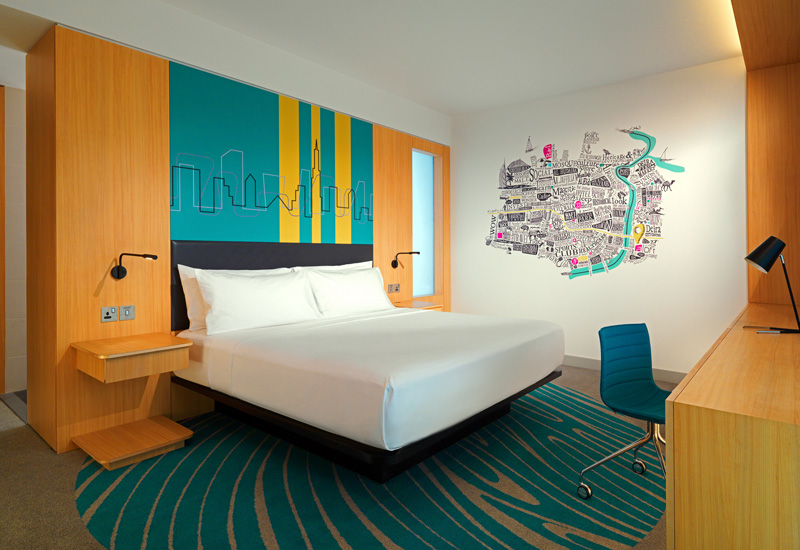 A room within the Aloft City Centre Deira