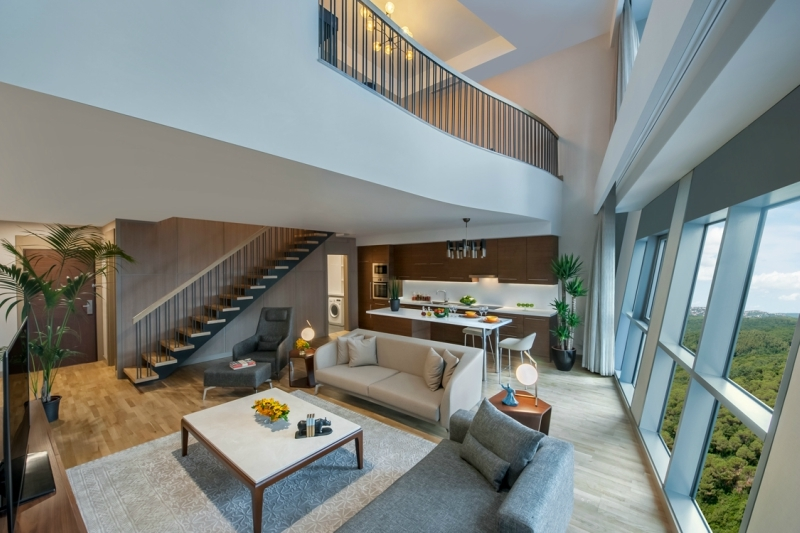 A one-bedroom apartment at Somerset Maslak Istanbul, Turkey.