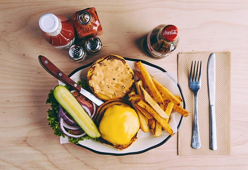 All American Burger at Black Tap.