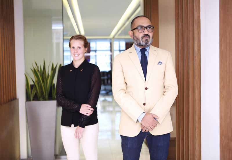 Circadian founder Gaurav Sinha with senior designer Tamasine McNabb.