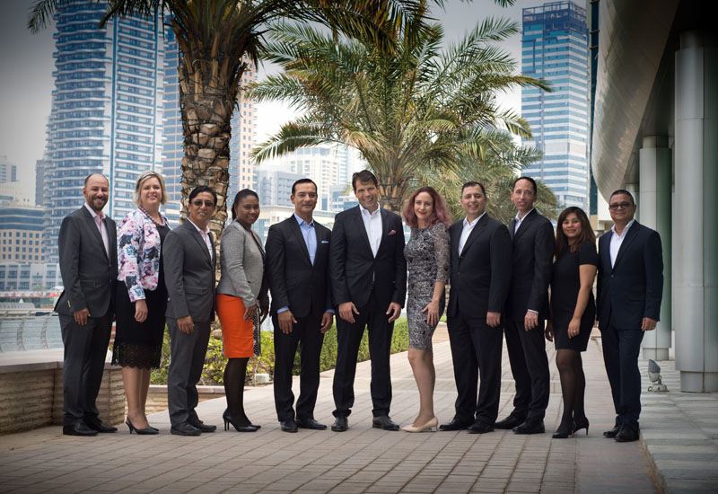 Cluster team for Wyndham Dubai Marina and Tryp by Wyndham Dubai.